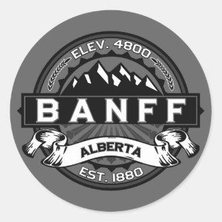 Banff Tile Gray Classic Round Sticker