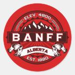 Banff Tile Red Classic Round Sticker