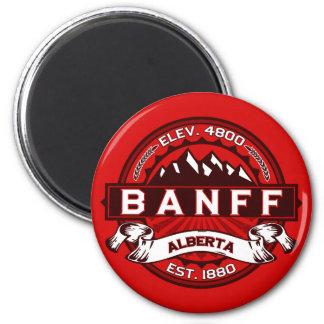 Banff Tile Red Fridge Magnets