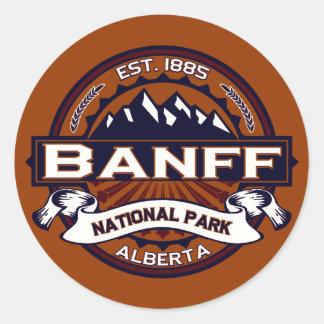 Banff Vibrant Classic Round Sticker