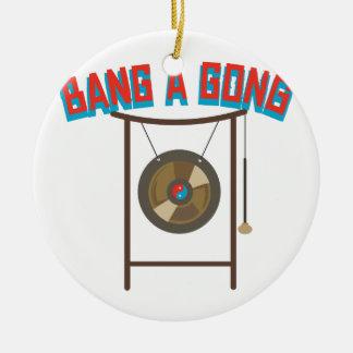 Bang A Gong Ceramic Ornament