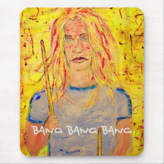 bang bang bang Drummer Girl Mouse Pad