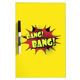 Bang bang comic book effect sound dry erase board