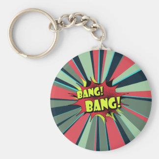 Bang bang comic book effect sound keychain
