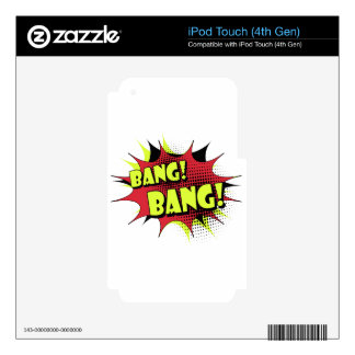 Bang bang comic book effect sound skins for iPod touch 4G