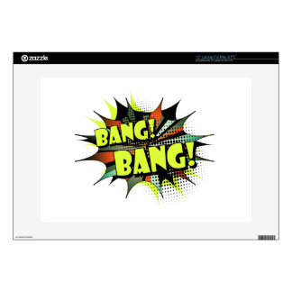 Bang bang comic book effect sound decal for laptop