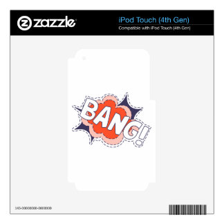 Bang Bright iPod Touch 4G Skins