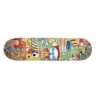 BANG! Colorful Comic Aleloop Skateboard. Skateboard