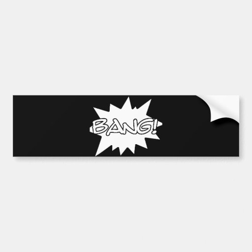 bang! comic hero sounds loud actions bumper sticker