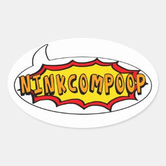 BANG Comic NinkComPoop Oval Sticker