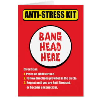 Bang Head Here Anti-Stress Card
