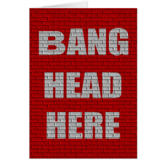Bang Head Here office gift Card