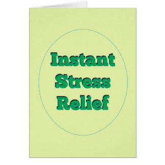 Bang Head Office Stress Relief Placebo Card