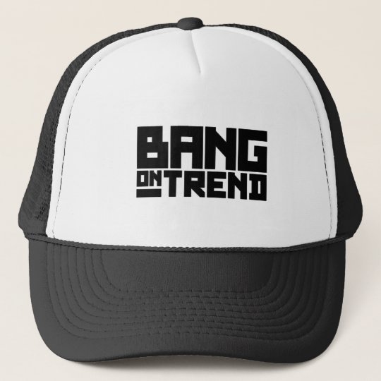 Bang On Trend - Black (is the new Black) Trucker Hat