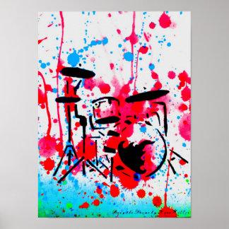 Bang the Drums by Kara Willis Posters
