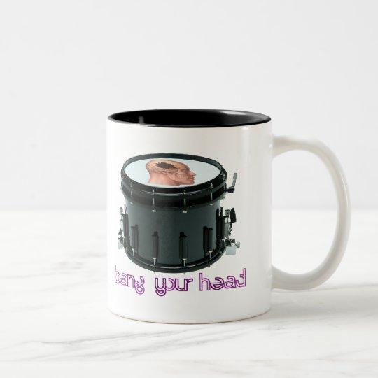 """Bang Your Head"" Snare Drum Coffee Mug"