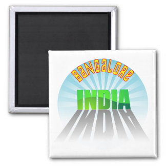 Bangalore 2 Inch Square Magnet