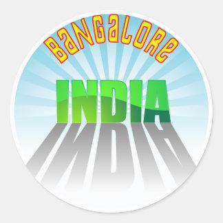 Bangalore Pegatina Redonda