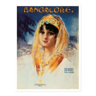 Bangalore Vintage Song Sheet Cover Post Card
