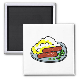 bangers-and-mash refrigerator magnets