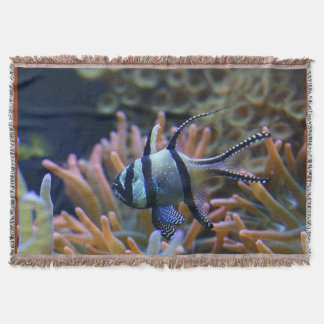 Banggai Cardinal Fish Coral Reef Throw
