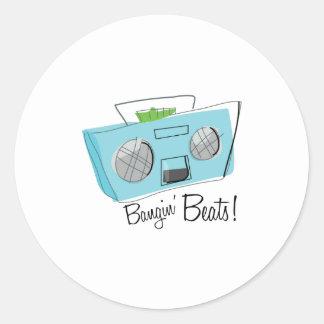Bangin Beats Classic Round Sticker