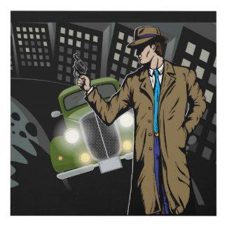 Bangin' It Like Bugsy 12x12, Comic Ganster Art