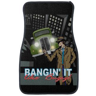 Bangin' It Like Bugsy Car Mats, Front, Set of 2 Car Floor Mat