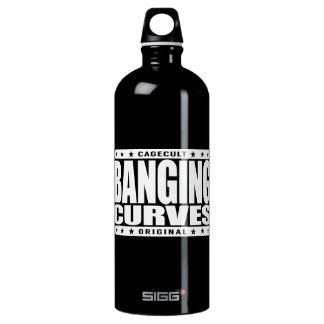BANGING CURVES - Dangerous Knockout Curves Ahead Aluminum Water Bottle