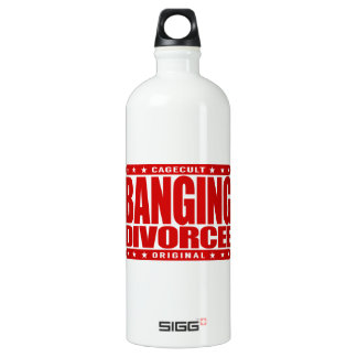 BANGING DIVORCEE - Newly Single and Ready to BANG Aluminum Water Bottle