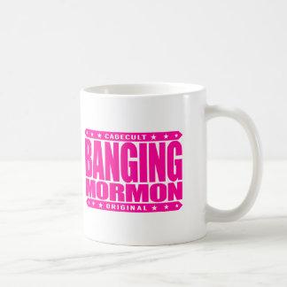 BANGING MORMON - Latter-day Saints Church Brawler Classic White Coffee Mug