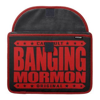 BANGING MORMON - Latter-day Saints Church Brawler Sleeve For MacBook Pro