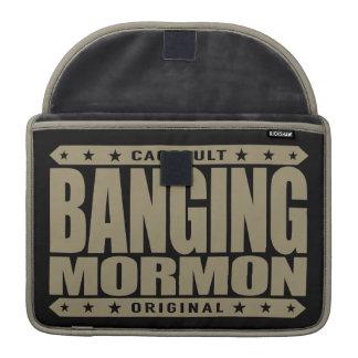 BANGING MORMON - Latter-day Saints Church Brawler Sleeve For MacBooks