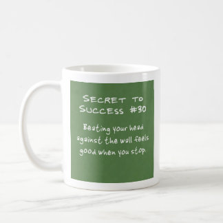 Banging your head against the wall coffee mug