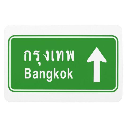 Bangkok Ahead ⚠ Thai Highway Traffic Sign ⚠ Magnet