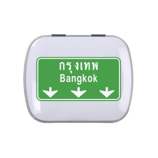 Bangkok Ahead Watch Out! ⚠ Thailand Traffic Sign ⚠ Jelly Belly Tins