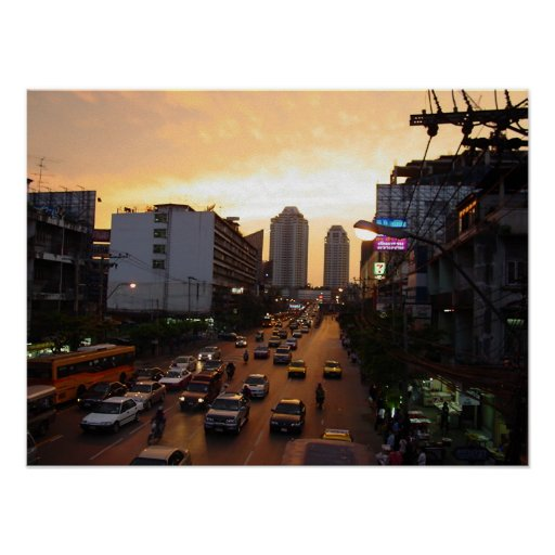 Bangkok at Sunset Poster