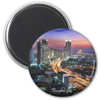 Bangkok City - Standard, 2¼ Inch Round Magnet