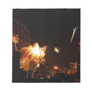 Bangkok fireworks notepad