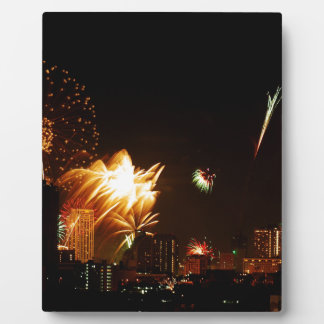 Bangkok fireworks display plaques