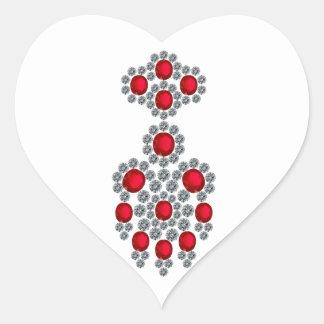 Bangkok Rubies Heart Sticker