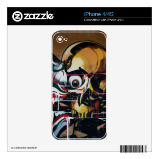 Bangkok Skull Graffiti iPhone 4 Skins