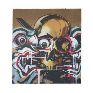 Bangkok Skull Graffiti Notepad