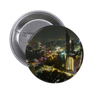 Bangkok skyline at night button