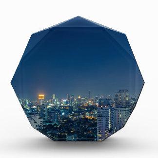 Bangkok skyline at night panorama award