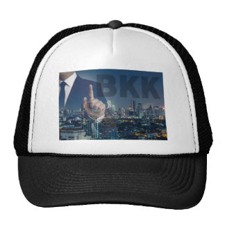 Bangkok skyline at night panorama trucker hat