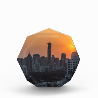 Bangkok skyline sunset panorama award