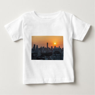Bangkok skyline sunset panorama baby T-Shirt