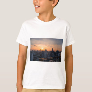 Bangkok skyline sunset panorama T-Shirt