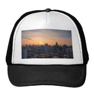 Bangkok skyline sunset panorama trucker hat